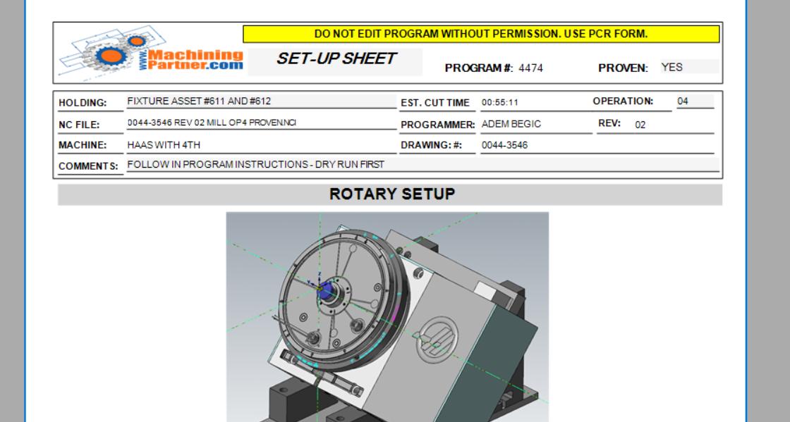 Custom Mastercam Setup Sheets – Custom Mastercam Posts
